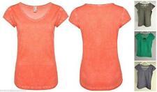 Markenlose Kurzarm Damen-Shirts ohne Muster
