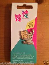 LONDON 2012 OLYMPICS TORCH RELAY (PLYMOUTH) PIN BADGE (19.05.2012)
