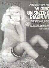 Ga1 Clipping-Ritaglio 1980 Isabella Biagini Vi dirò un sacco di biaginate