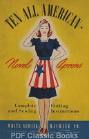 10 Vintage APRON Sewing PATTERN Instructions Book on CD