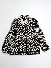 New Women J. Crew Zebra Print Animal Linen Jacket Blazer Size 8