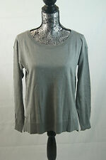 Lacoste Cotton Silk Gray Summer Sweater Sz 36/4 $155 AF1064 BNWT 100% Authentic