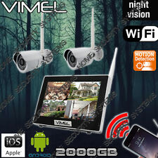IP Security Cameras System Wireless 2TB Farm Home House Motion Activation Vandal