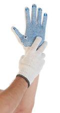 Strick Handschuhe Feinstrick mit blauen Noppen Größe 10   12 Paar NEU OVP