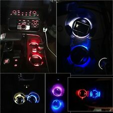 2pcs Solar Energy LED Cup Mat Lighting Accessories Light Fit Ford Car Lamps