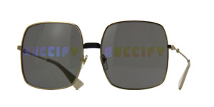 *NEW AUTHENTIC* GUCCI GG0414S 002 GOLD FRAME, MULTICOLOR MIRROR(DOUBLE) LENS