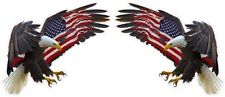 "American Eagle American Flag Large Pair Decals 24"" Each Free Shipping"