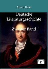 Deutsche Literaturgeschichte by Alfred Biese (2011, Paperback)