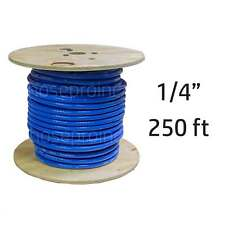 "250 ft 1/4"" ID FlexFab Silicone Heater Hose 5526 Blue 6mm 350F Radiator Coolant"