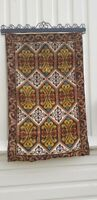 Rosemaling Style NORWEGIAN Embroidered Tapestry WALLHanging Scandinavian Norway