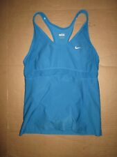 Womens NIKE FIT DRY athletic tank top w/ built n sports bra M md med running gym