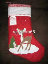 No Name Pottery Barn Kids Rudolph Reindeer Christmas Icon Quilted Stocking NWT
