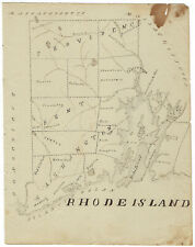 Rhode Island - Early 19th-Century Hand-Drawn Map
