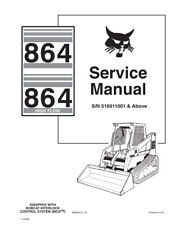 Bobcat 864 & Highflow Skid Steer Loader Updated 2010 Edition Service Manual