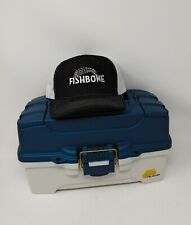 Plano 2-Tray Tackle Box with Richardson Adjustable Fishbone Cap