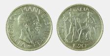 s535_79) Vittorio Emanuele III (1900-1943) 20 lire 1928 Littore - FRATTURA CONIO