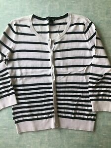 H&M white and black  cardigan size S