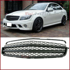 For 08-11 M-Benz W204 C-Class C300 C350 2DR 4DR B Type Matte Black Front Grille