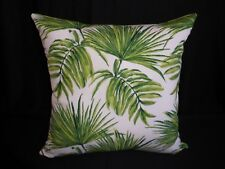 Outdoor Green & White Tropical Palm Leaf Print Cushion Cover 45cm Au Made