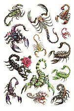 Temporay Körper Schmuck Tattoo Einmal Tatoo Tätowierung Bodyart Skorpion