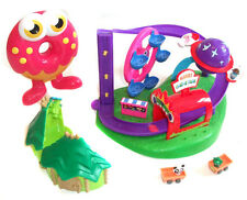 Moshi Monsters Minatures AMUSMENT PARK, HOUSE & CARRY CASE + figures