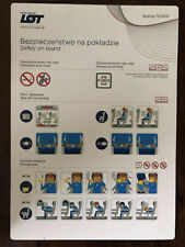 LOT Polish Airlines Boeing 737-400 safety card