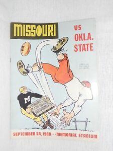 VINTAGE FOOTBALL PROGRAM - NCAA MISSOURI TIGERS / OKLAHOMA STATE - 9-24-1960