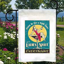 Ladies Night Stiff One New Small Garden Yard Flag Home Adult Humor Bar