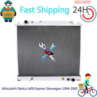 Aluminum Radiator for Mitsubishi Delica L400 Express Starwagon 1994-2005 Auto/MT