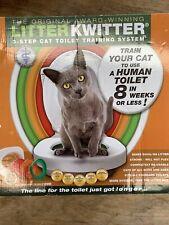 Litter Kwitter Cat Toilet Training System Used