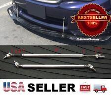 "Silver 5.5-8.5"" adjustable Rod Bumper Lip Diffuser splitter For Lexus Scion"