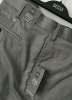 MENS M&S 44 W 33 L GREY TAILORED FIT STRETCH TROUSERS FREE POST