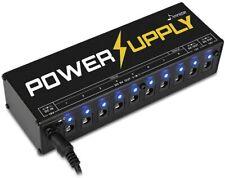 Guitar Pedal Power Supply 10 Isolated for 9V/12V/18V Effect Pedal Board US Plug
