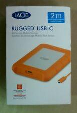 LaCie Rugged USB-C 2TB Portable External Hard Drive *New* FREE SHIPPING!!