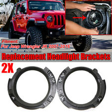 For 2007-2018 Jeep Wrangler JK Pair LH+RH Headlight Bracket Bucket Replacement