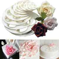 6PC Lots Rose Flower Fondant Mold Cake Sugarcraft Decor Cookie Paste Cutter Tool
