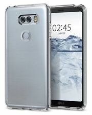LG V30 Case, Spigen Liquid Crystal Cover Case - Crystal Clear