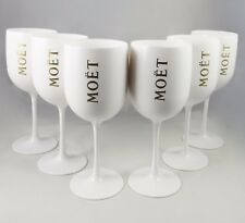 Moet Chandon MC Ice Imperial White Acrylic Champagne Goblet NEW Set of 6