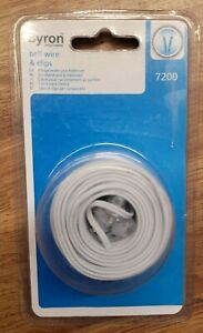 Byron 7200 Doorbell Cable9m  and Clips for Wired Door Chimes