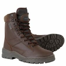 Kombat Army Cadet Brown Leather Patrol Boots Tactical Hiking Work Combat Shoes