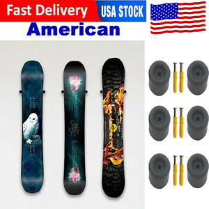 US Ski / Snowboard Storage Holder Display Wall Mount Rack Snowboard Hanger Stand