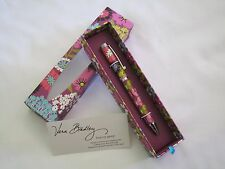 Vera Bradley FLUTTERBY BALL POINT PEN BLACK INK Refillable 4 PURSE Tote BAG  NWT