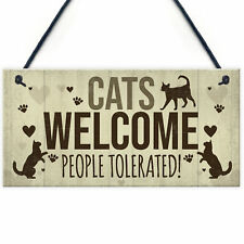 Cat Signs For Home Funny Cat House Sign Gate Door Plaque Pet Animal Lover Gifts