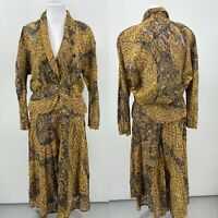 Nadya One Of A Kind Jacket & Skirt Set Size Large Made In Bali
