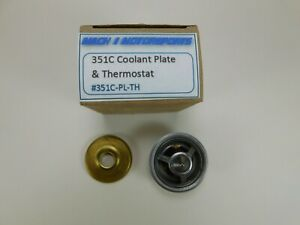 Ford 351C Cleveland Thermostat & BLOCK Plate Mustang PANTERA Galaxie Torino