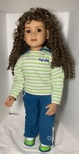 "2009 My Twinn Doll With Brown Eyes & Curly Long Hair 1997 Head  23"""
