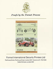 St Lucia (2089) - 1984 Cars #1 Alfa Romeo imperf on Format Int PROOF  CARD