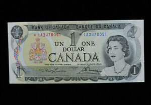 1973 $1 Dollar Bank of Canada Banknote Replacement Bill *IA 2470051 AU Grade