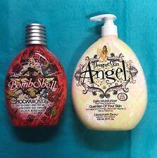 DESIGNER SKIN BOMBSHELL 100XX Tingle Bronzer Tanning Lotion FREE ANGEL MOIST!