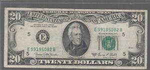 1969 C (E) $20 Twenty Dollar Bill Federal Reserve Note Richmond Vintage Currency